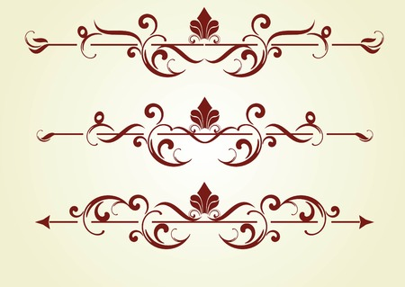 set of design elements in vintage style vectorized Stock Vector - 8172281
