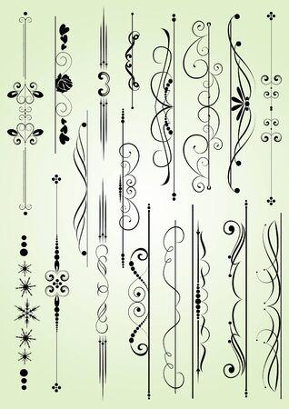 set of design elements in vintage style vectorized Illustration