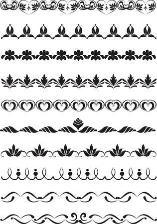 adornment: insieme di elementi di design per telai Vettoriali