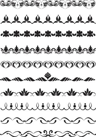 set of design elements for frames Stock Vector - 8865846