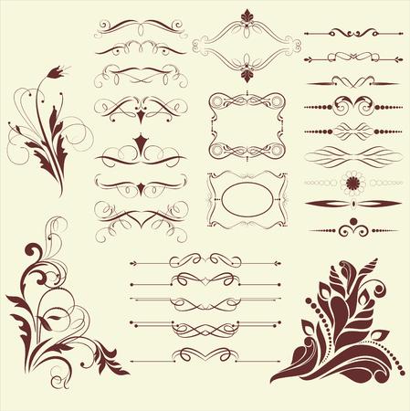 grecas: conjunto de elementos de dise�o de estilo vintage vectorizados