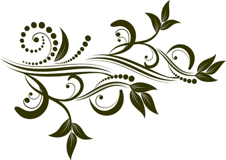 design elements: decorative branch vectorized