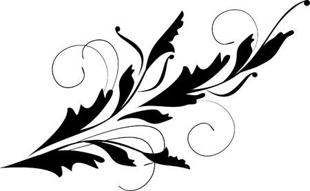 foliate: decorative branch Illustration