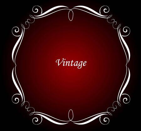 copertina libro antico: cornice decorativa Vettoriali
