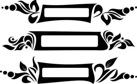 design elements - set of asymmetrical frames for text Vector