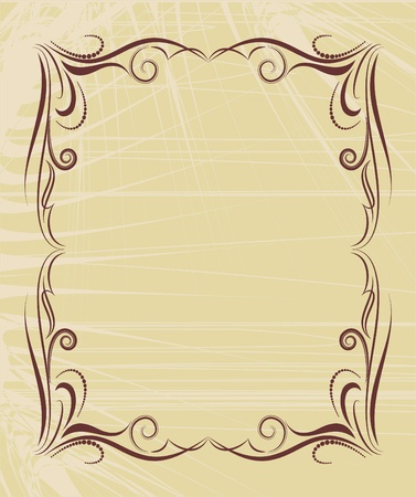 decorative floral frame in vintage style Stock Vector - 9569890