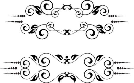 two decorative floral frames Stock Vector - 9569889