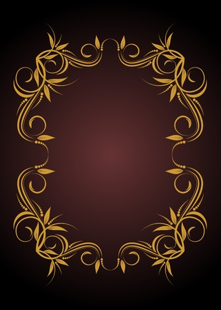 decorative frame in vintage style vectorized Stock Vector - 9681868
