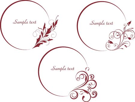 decorative  oval frames in vintage style vectorized Illustration