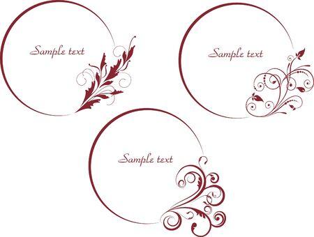 vectorized: decorativos marcos ovales en estilo vintage vectorizado