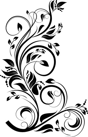 decorative branch Vector