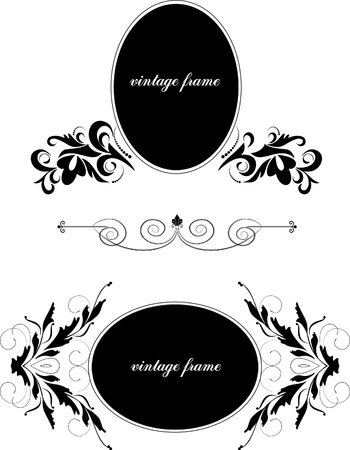 decorative floral frame Stock Vector - 9828085