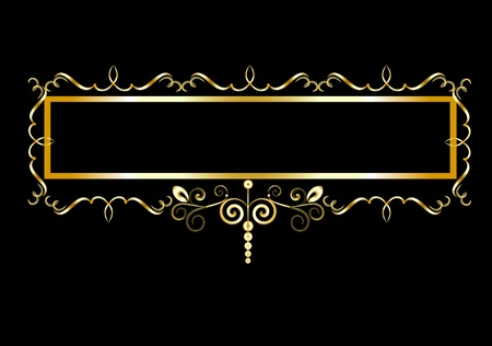 decorative frame in vintage style vectorized Stock Vector - 9828089