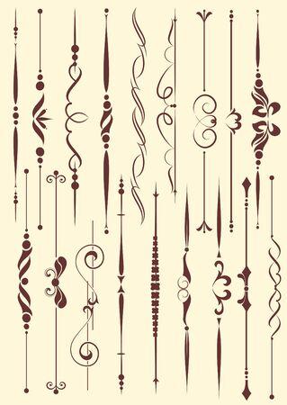 fretwork: conjunto de elementos de dise�o de estilo vintage vectorizado