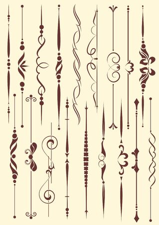 set of design elements in vintage style vectorized Stock Vector - 9828092