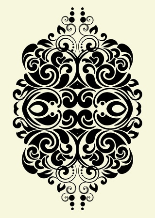 design ornamental element in vintage style vectorized  Vector