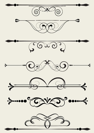 design ornamental element in vintage style vectorized Stock Vector - 10491684