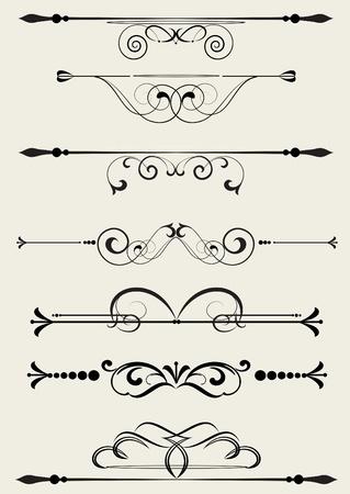règle: �l�ment de conception ornementale, style vintage vectoris�
