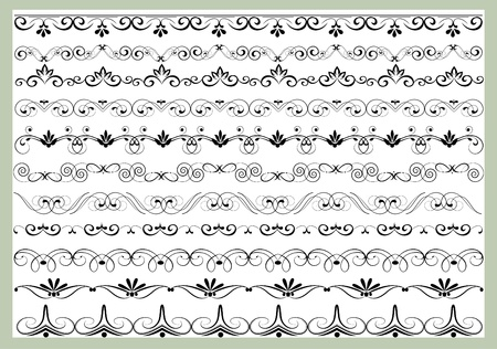 design ornamental element in vintage style vectorized Vector