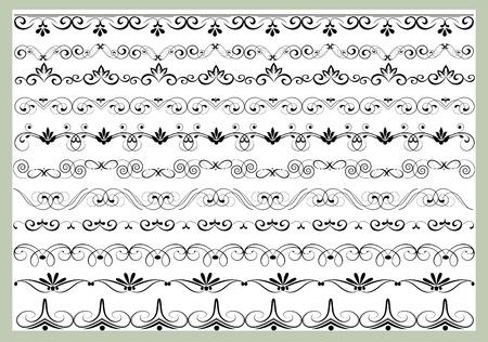 vectorized: elemento de dise�o ornamental en el estilo vintage vectorizado