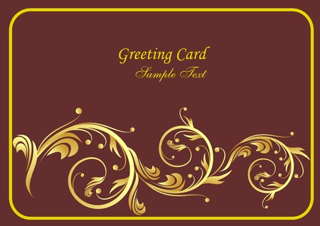 greeting card with stylized branch Vector