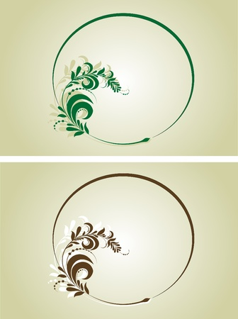 two decorative frames for design Stock Vector - 10843501