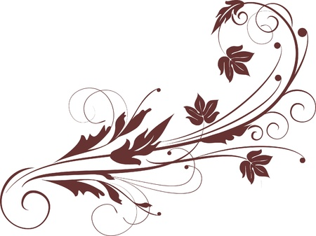 decorative branch - element for design in vintage style Stock Vector - 10843499