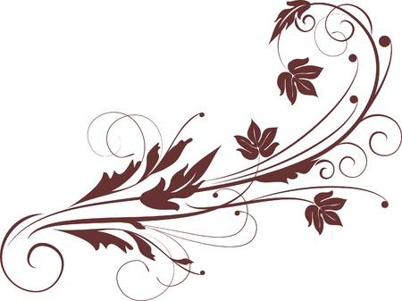 nostalgia: decorative branch - element for design in vintage style  Illustration