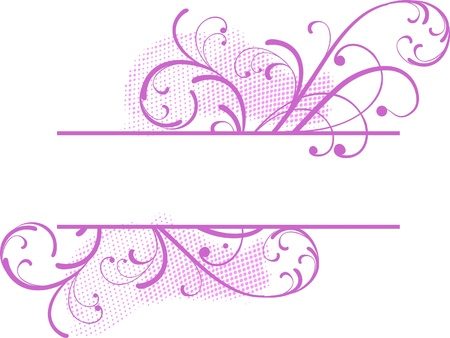 pink floral banner for text Vector