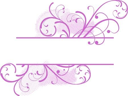 roze bloemen banner voor tekst