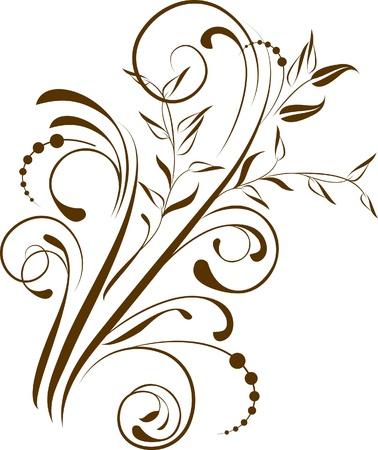 calligraphie arabe: branche d�corative - �l�ment pour la conception Illustration
