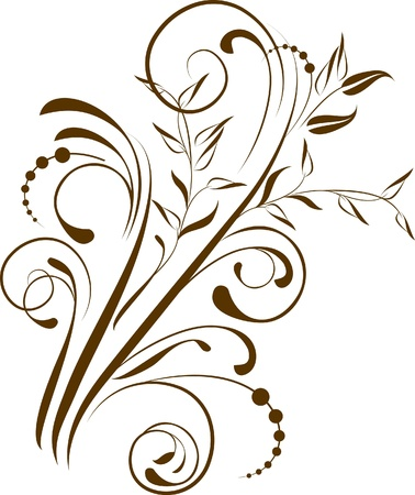 decorative branch - element for design Illustration