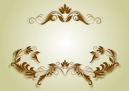 decorative frame with shadow Vector
