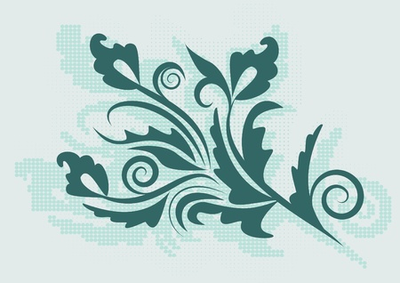 decorative branch with shadow Vector