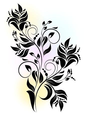 rama de decoración con sombra