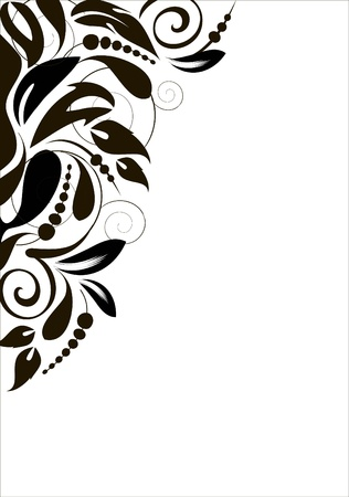 floral corner: abstract curve background