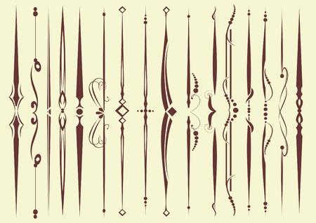 conjunto de elementos decorativos para editar y diseño Ilustración de vector