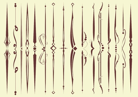 set of decorative elements for editable and design  Vector