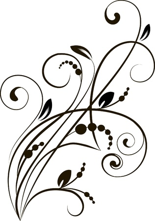 decorative branch - element for design Illustration