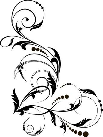 floral swirls: Floral corner