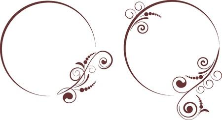 decorative frames for design Vector