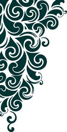 element for design: decorative corner - element for design in vintage style