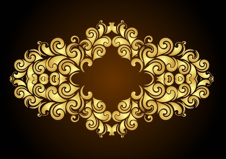 decorative floral frame for design  Vector