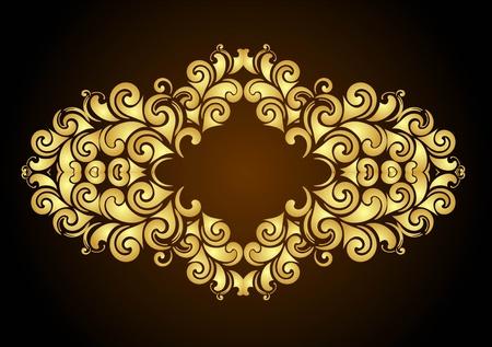 fretwork: decorative floral frame for design  Illustration