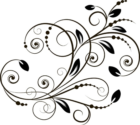 decorative branch - element for design in vintage style Stock Vector - 12444346