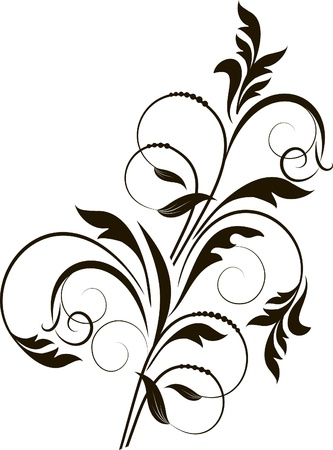 decorative branch - element for design in vintage style Stock Vector - 12444342