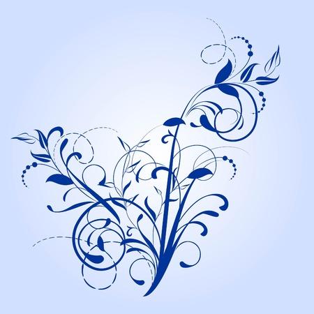 decorative branch in vintage styled for design Illustration