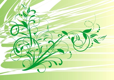 embroidery designs: floral background with decorative branch  Illustration