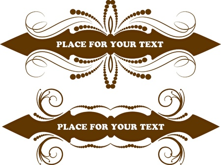 two vintage frames  Vector