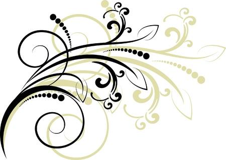 scroll design: Decorative branch - element for design in vintage style Illustration